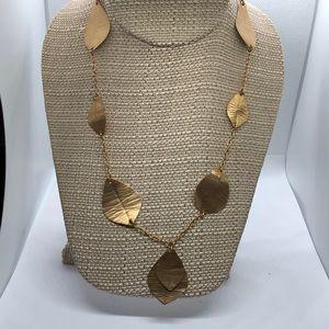 Foliage Gold Tone Necklace